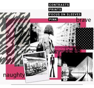 Ein Thema für das Mädchen in mir. PINK ME UP ist frech und mutig. Es strahlt Fröhlichkeit und Esprit aus. Streifen finden zu Punkten und kreieren einen modisch frechen Stil. Hot Pink gibt hier die Lautstärke des Themas an und strahlt uns entgegen. Der Flair vom jungen Paris und den Kunstmärkten von Montmartre belebt dieses Thema.